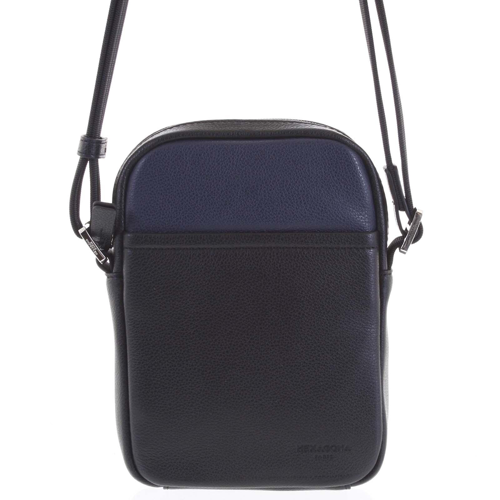 Pánska kožená taška na doklady modrá - Hexagona Yesterday