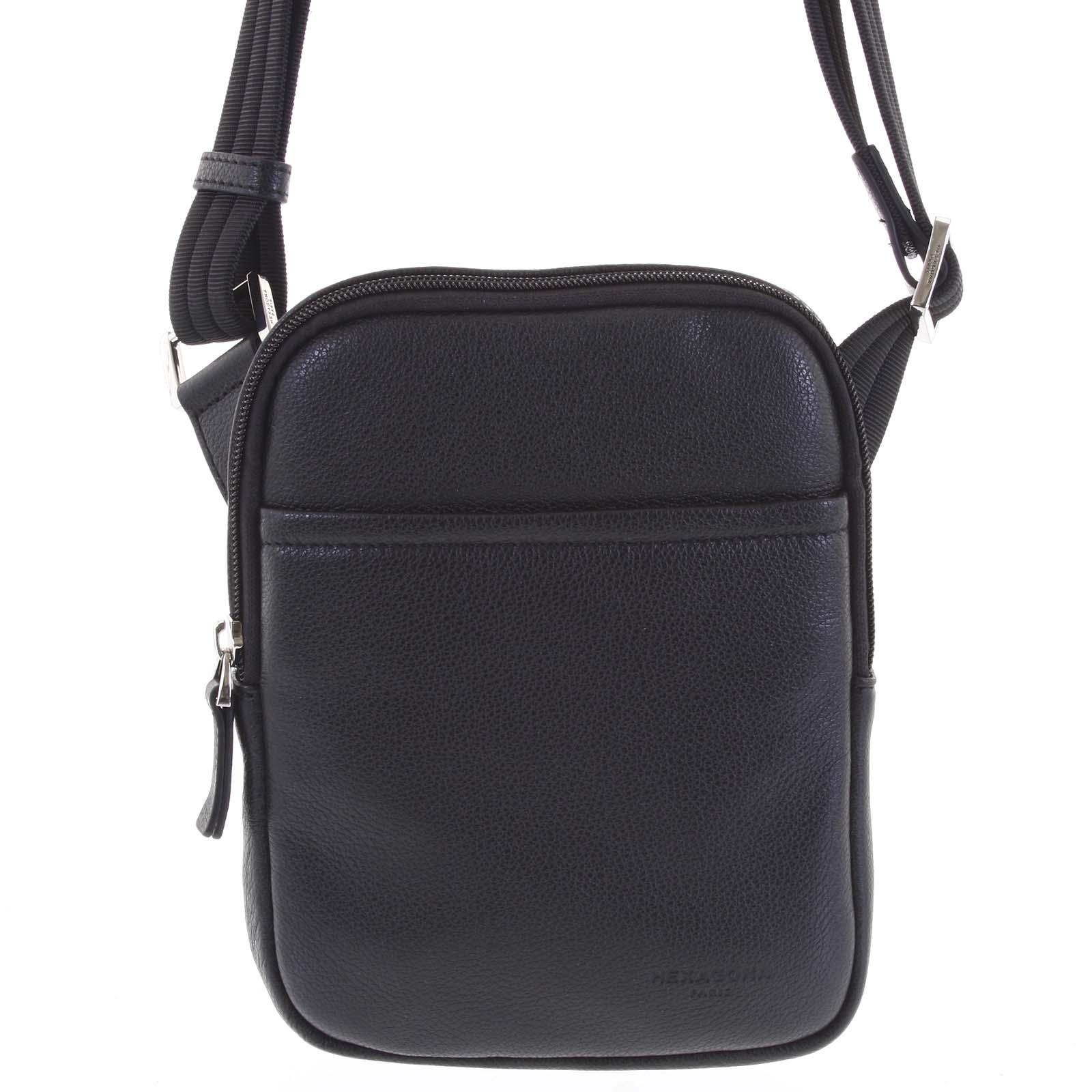 Pánska kožená taška na doklady čierna - Hexagona Tuesday