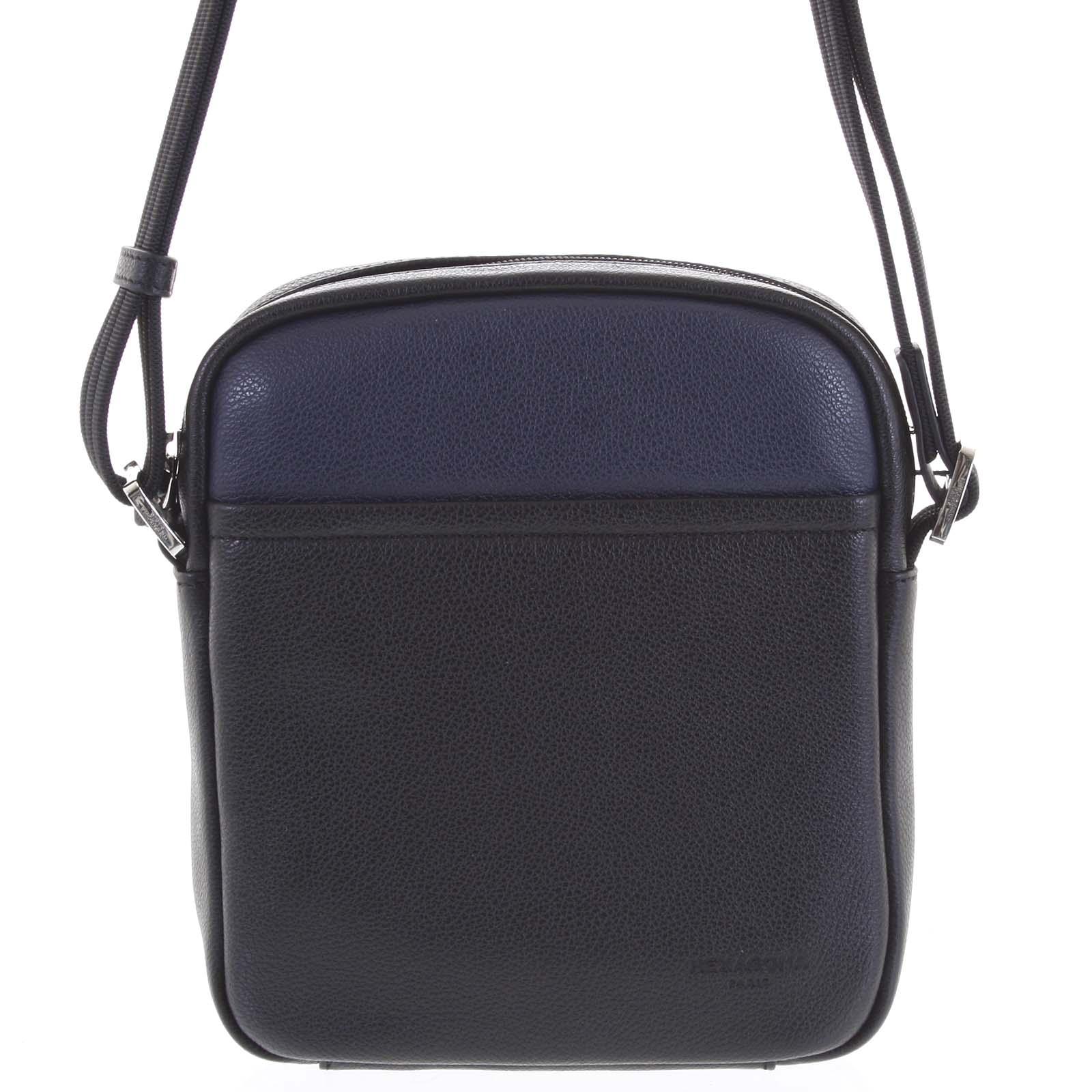 Pánska kožená taška na doklady čierno modrá - Hexagona Thursday