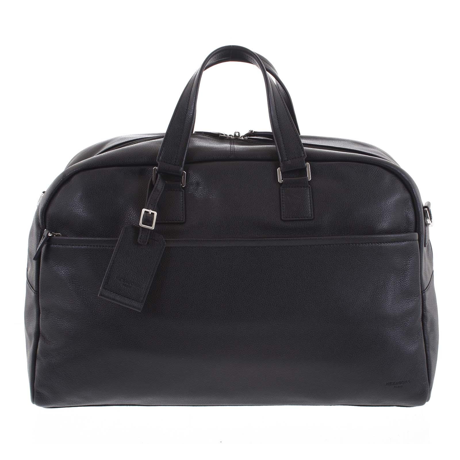 Cestovná kožená taška čierna - Hexagona Everyday