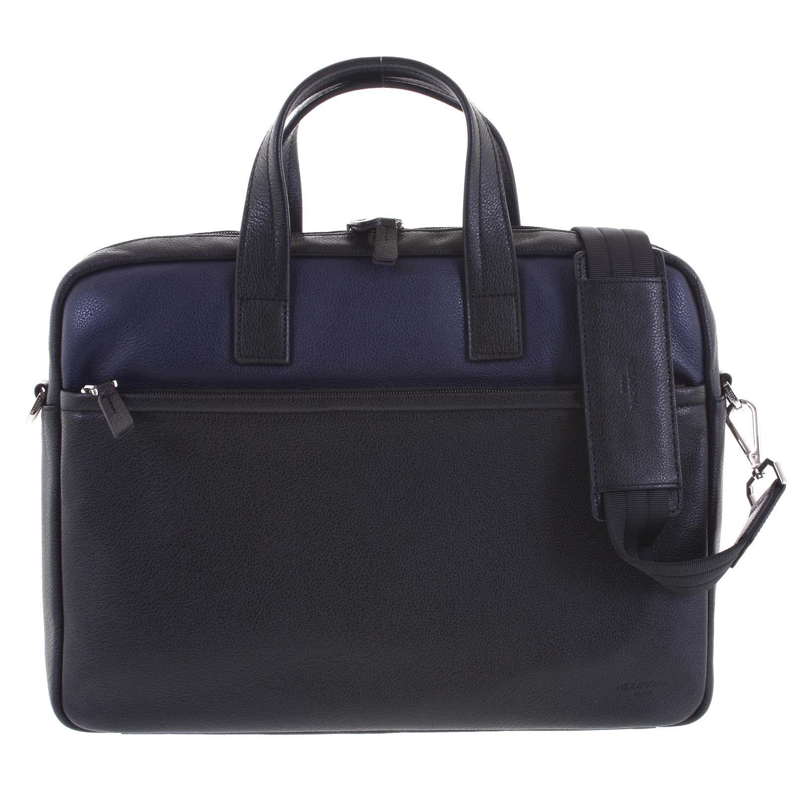 Luxusná Pánska kožená taška čierno modrá - Hexagona Friday