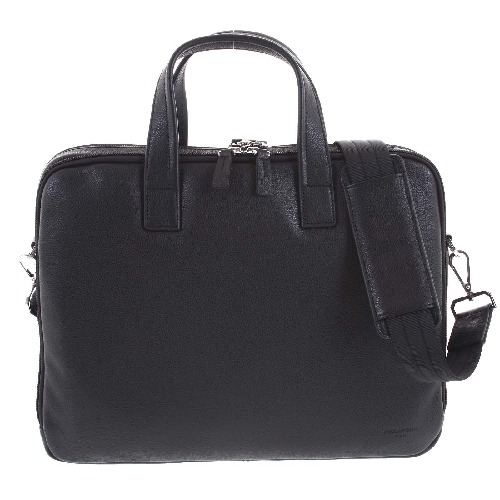 Luxusná kožená taška čierna - Hexagona Saturday