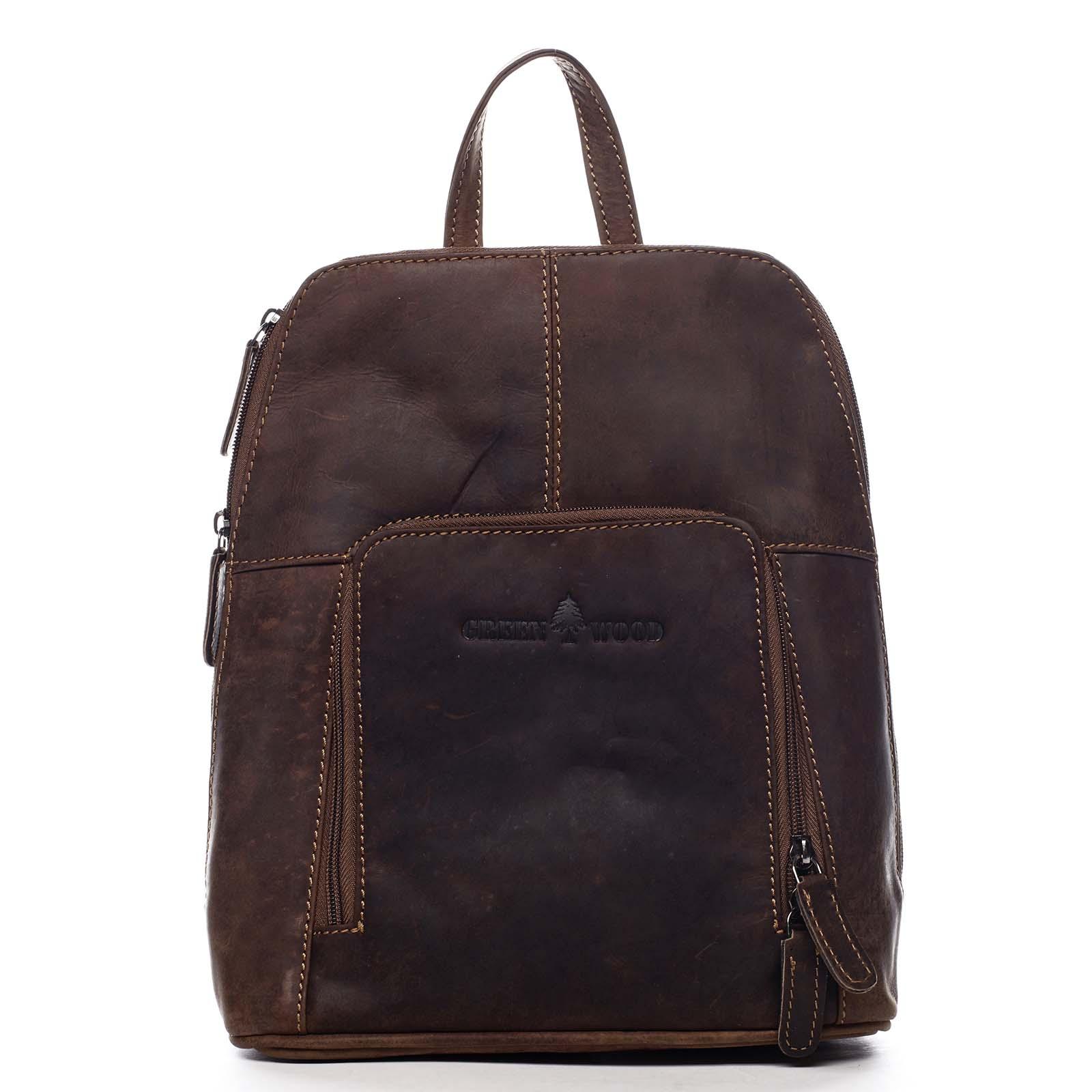 Dámsky kožený batôžtek hnedý - Greenwood Hammon