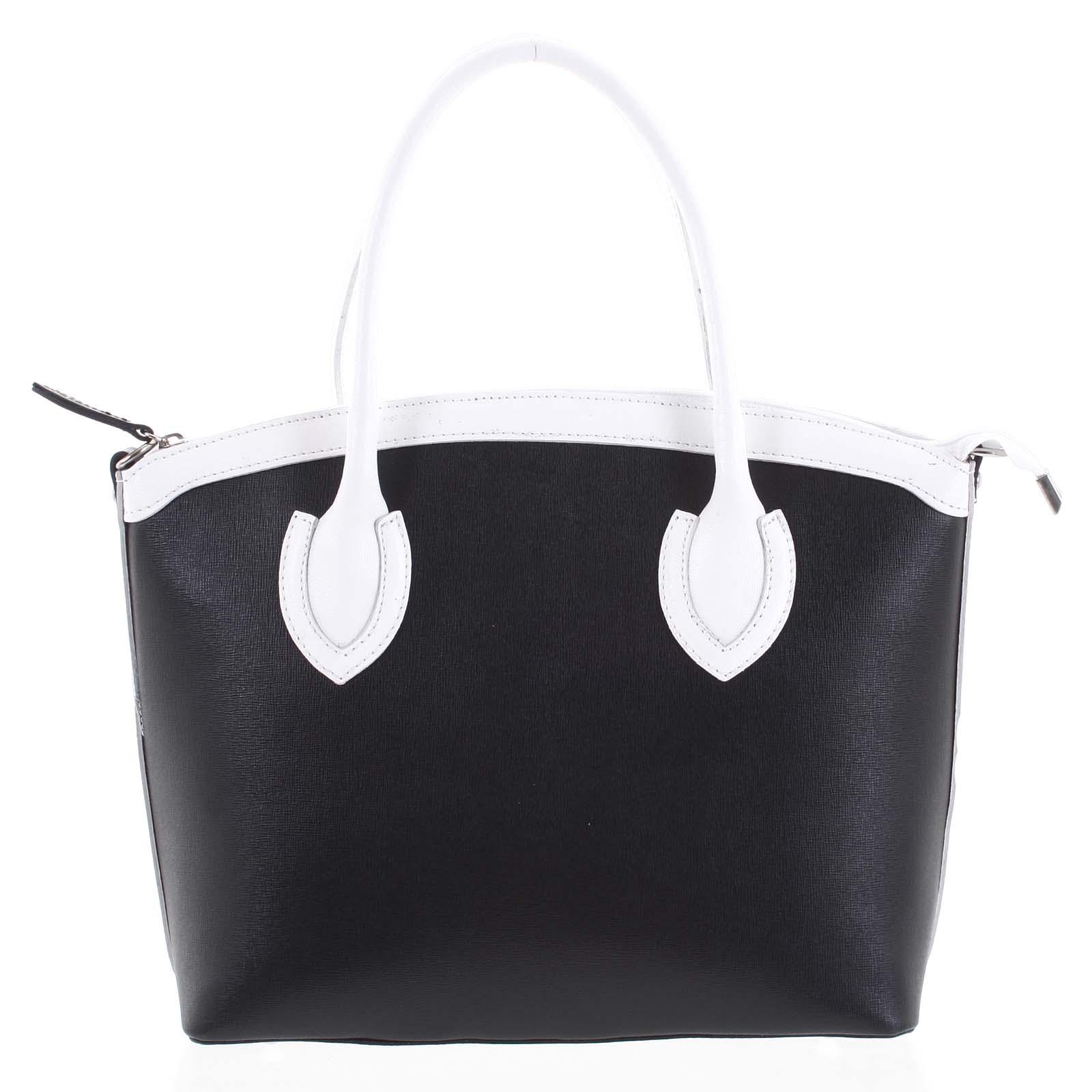 Dámska kožená kabelka čierna - ItalY Garden