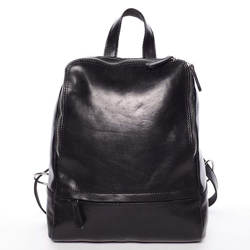 Dámsky kožený batoh čierny - ItalY Zeus