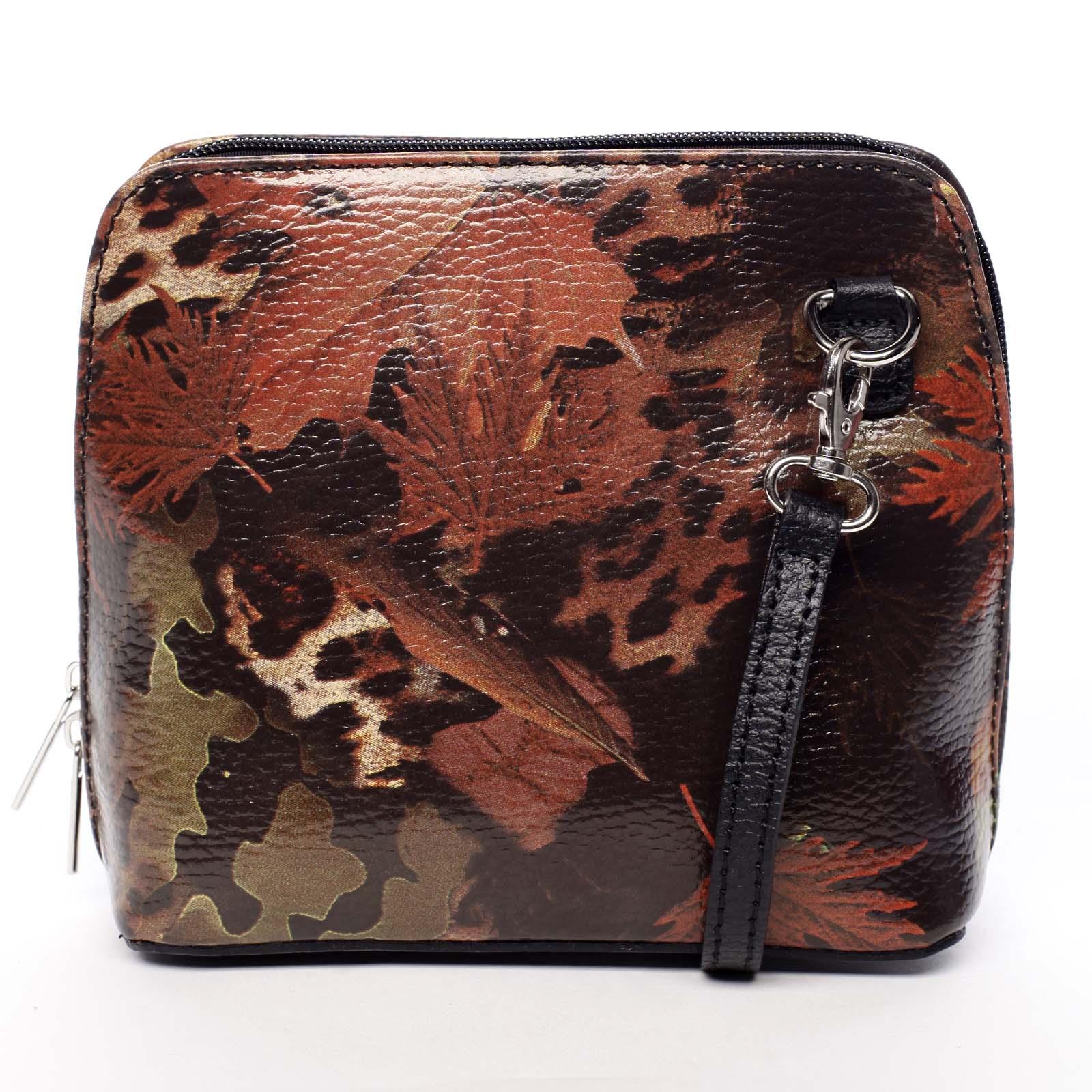 Dámska kožená crossbody kabelka jesenná čierna - ItalY Hannah