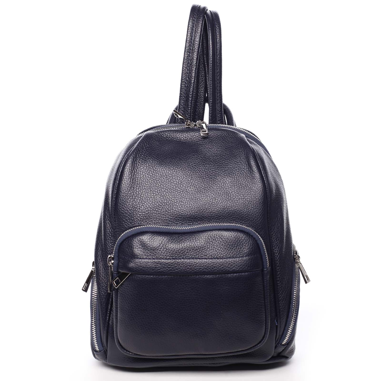Dámsky kožený batoh tmavomodrý - ItalY Minetta