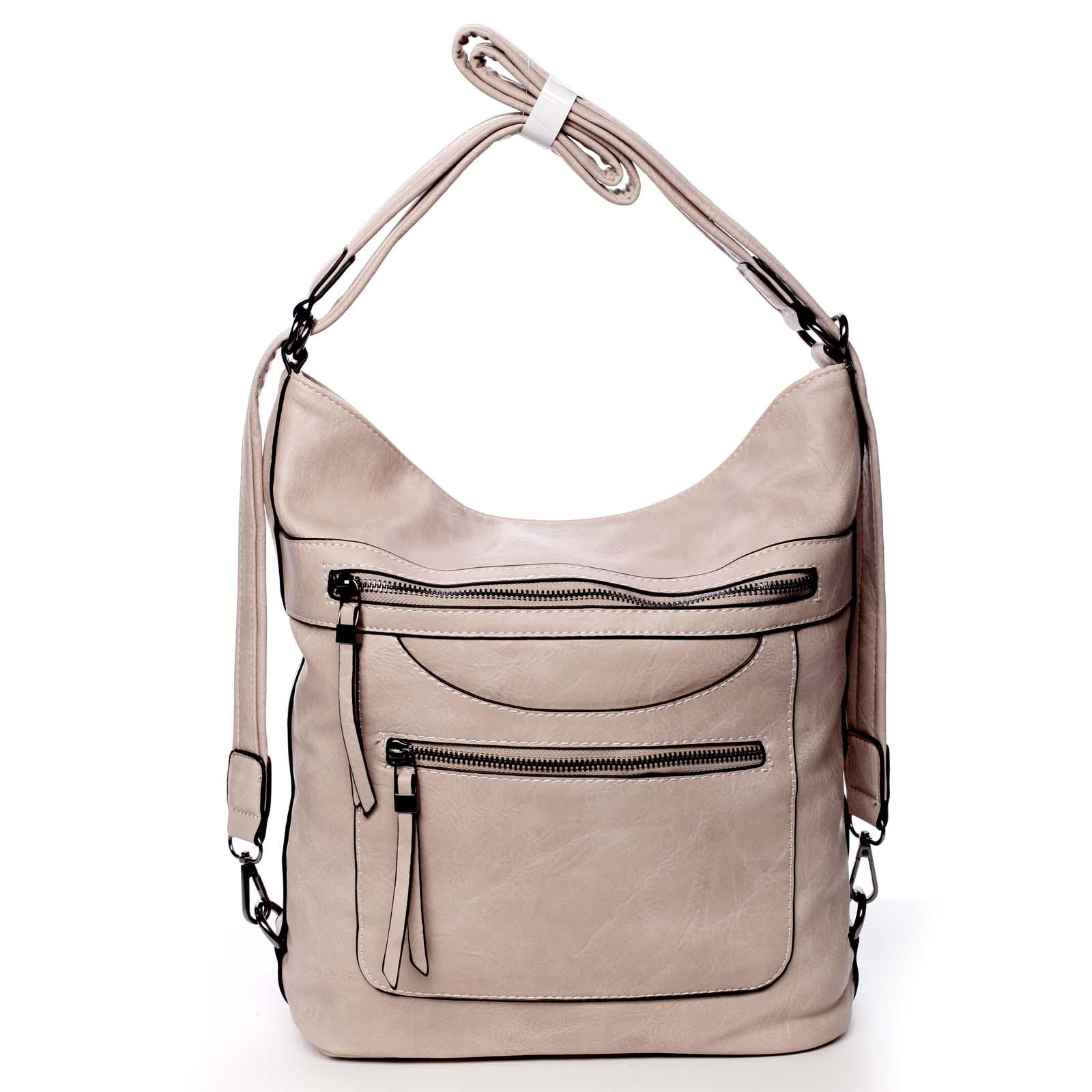 Dámska kabelka batoh svetloružová - Romina Pamila