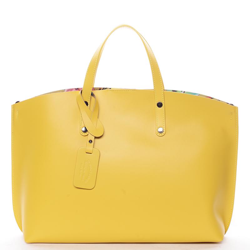 Dámska kožená kabelka žltá - ItalY Jordana