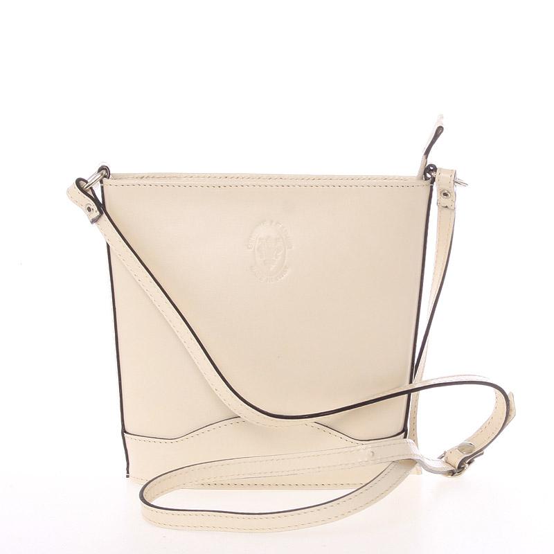 Béžová kožená crossbody kabelka - ItalY Bryana