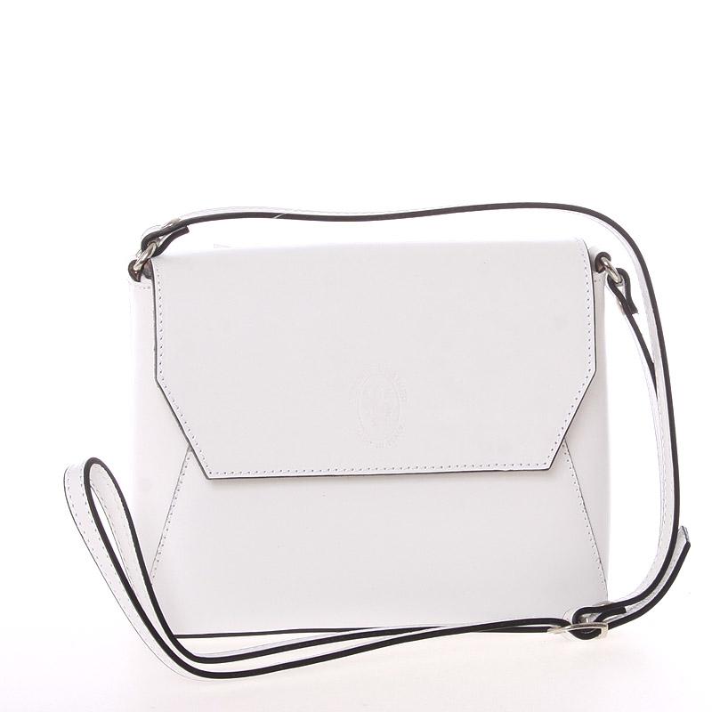 Dámska kožená crossbody kabelka biela - ItalY Marleta