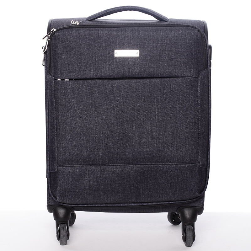 Odľahčený cestovný kufor sivý - Menqite Kisar M