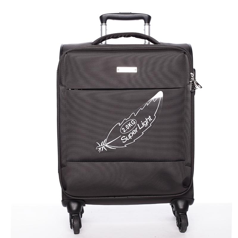 Odľahčený cestovný kufor hnedý - Menqite Kisar L