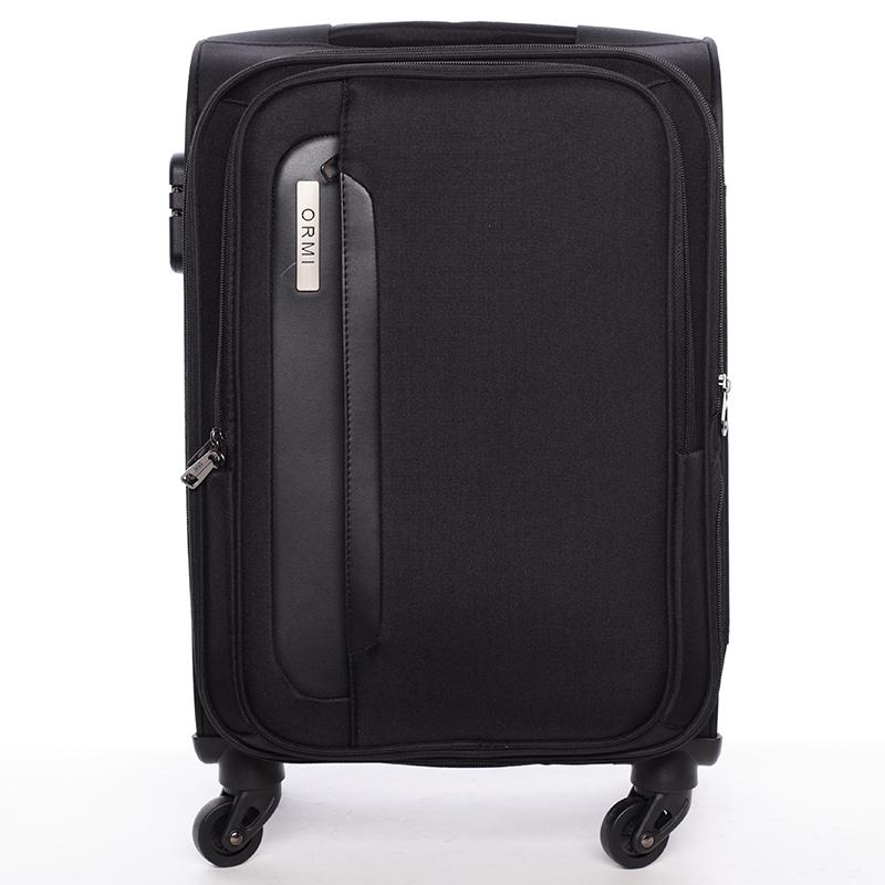 Cestovný kufor čierny látkový - Ormi Kratch L