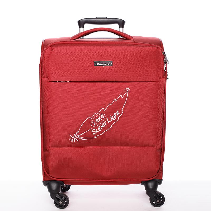 Odľahčený cestovný kufor červený - Menqite Kisar L