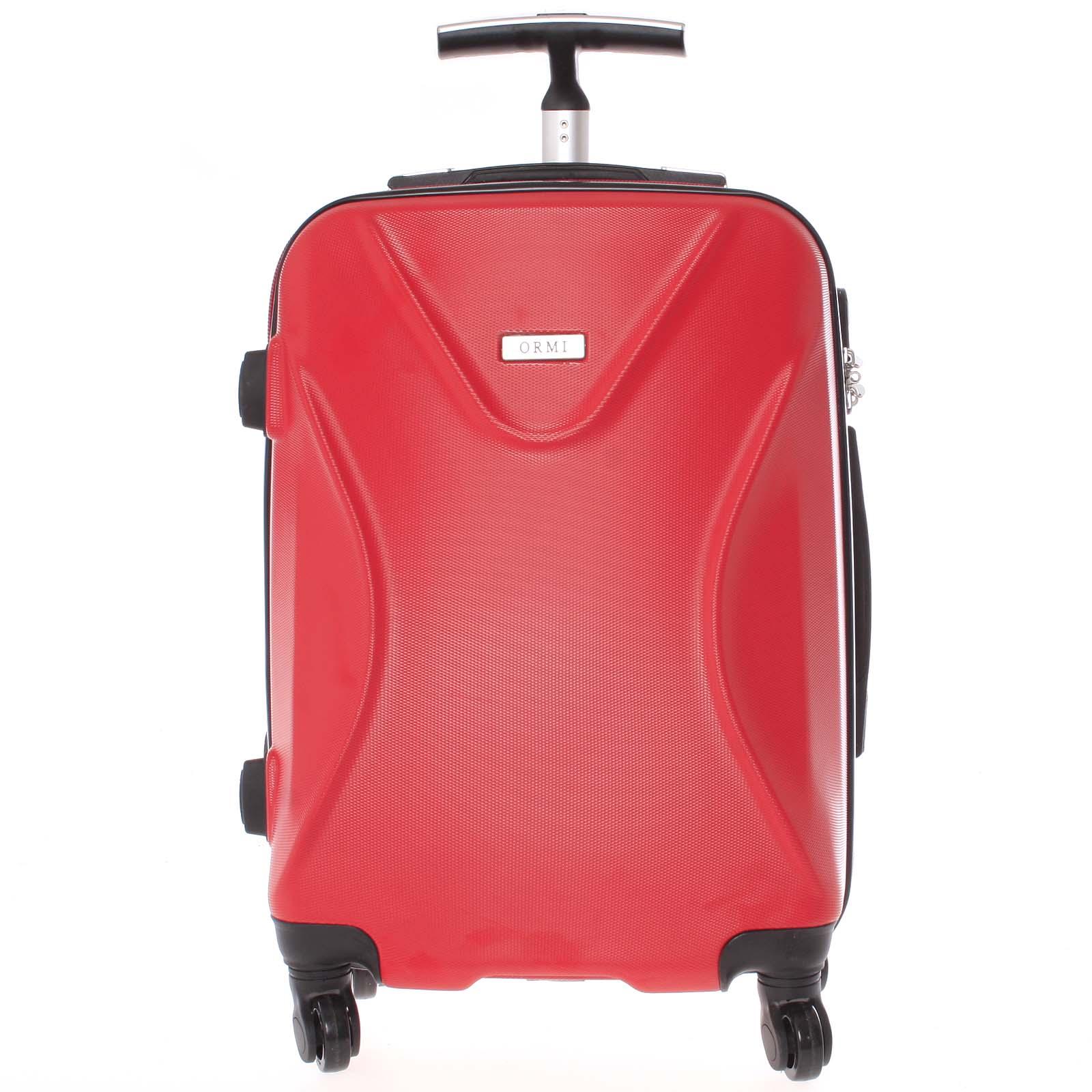 Originálny pevný cestovný kufor červený - Ormi Cross M