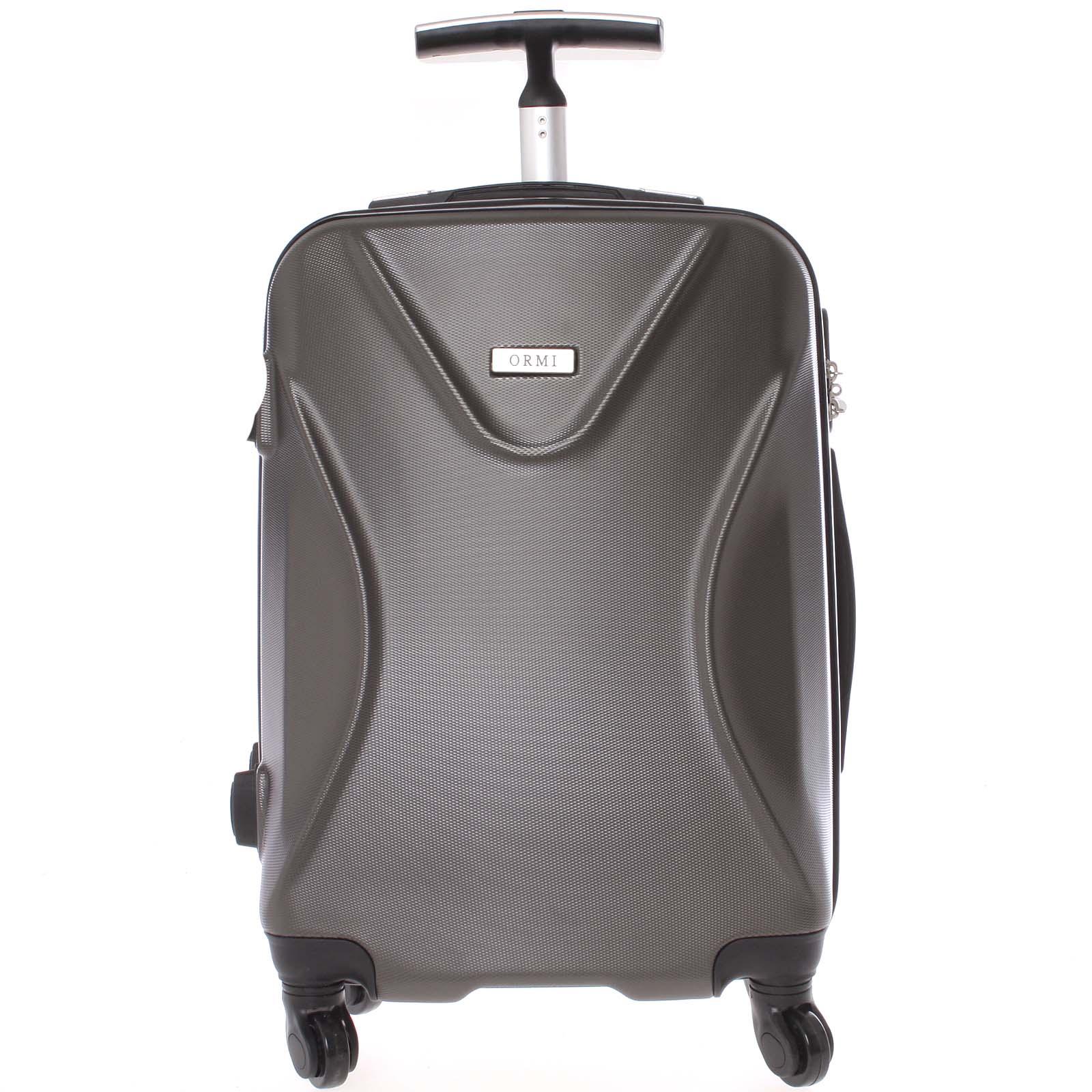 Originálny pevný cestovný kufor tmavosivý - Ormi Cross M