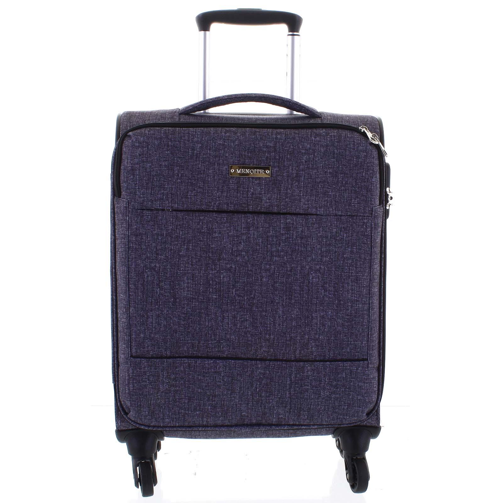 Odľahčený cestovný kufor svetlosivý - Menqite Kisar M