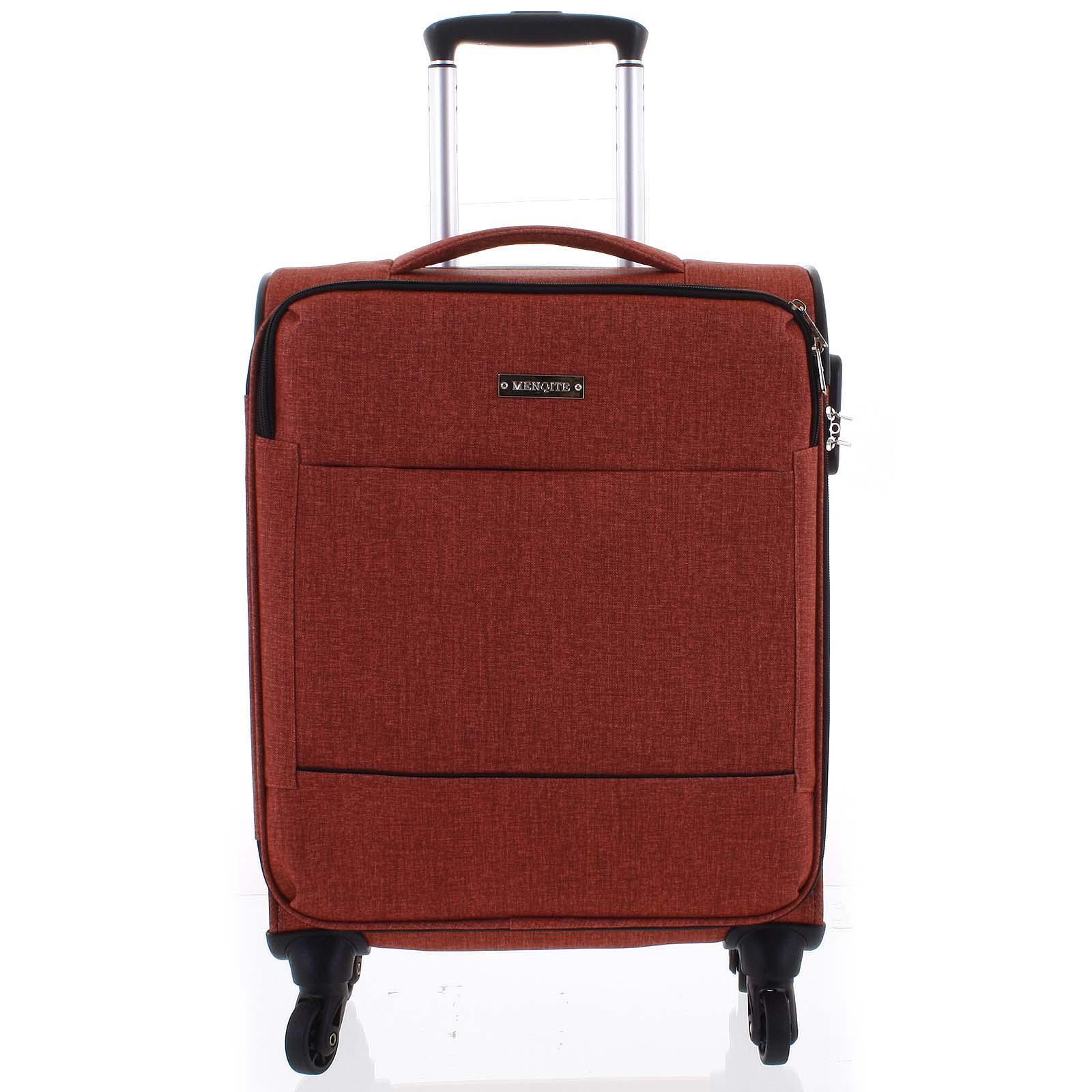 Odľahčený cestovný kufor malinovo červený - Menqite Kisar L