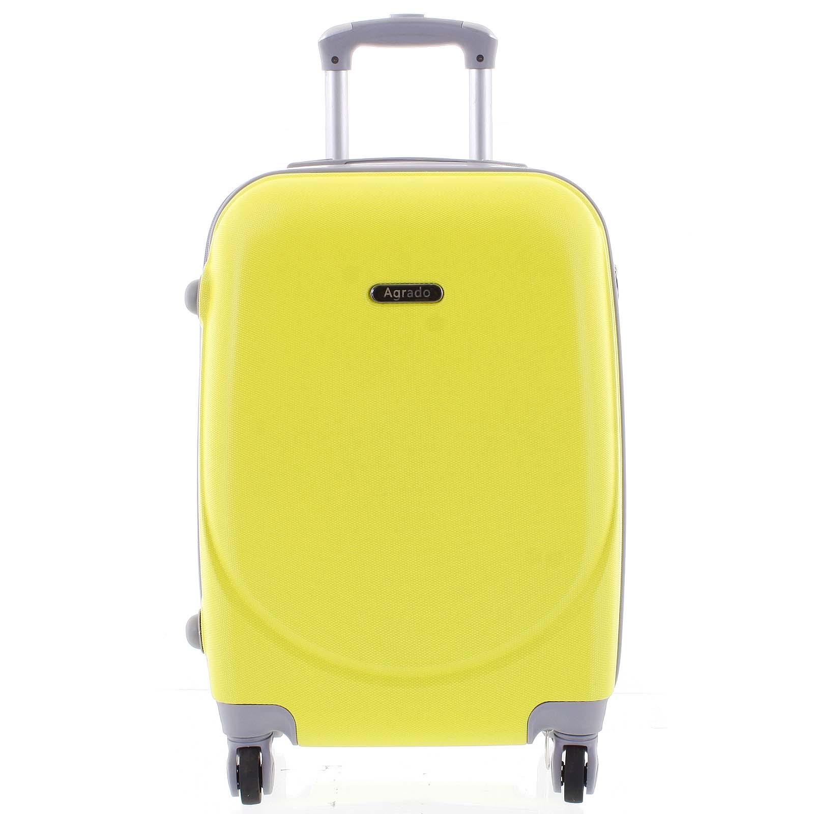 Kvalitný a elegantný pevný žiarivo žltý cestovný kufor - Agrado Peter M