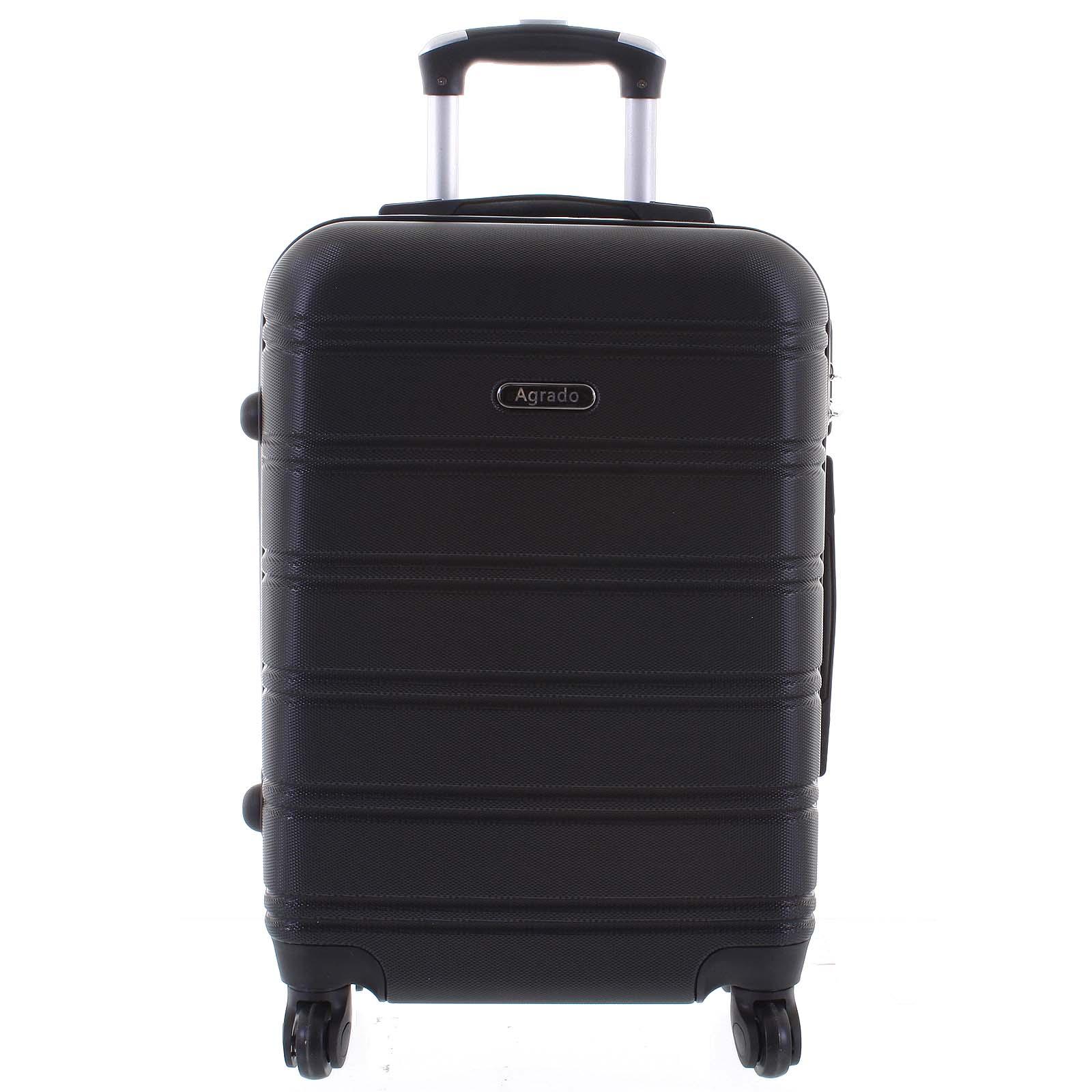 Kvalitný a elegantný pevný čierny cestovný kufor - Agrado Michael L