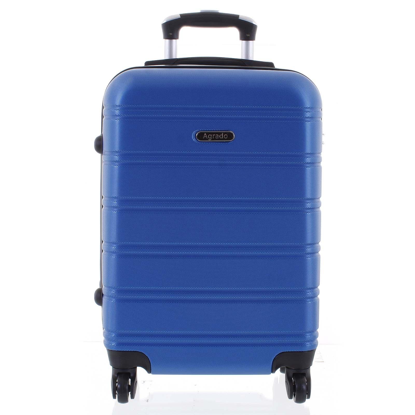 Kvalitný a elegantný pevný žiarivo modrý cestovný kufor - Agrado Michael S