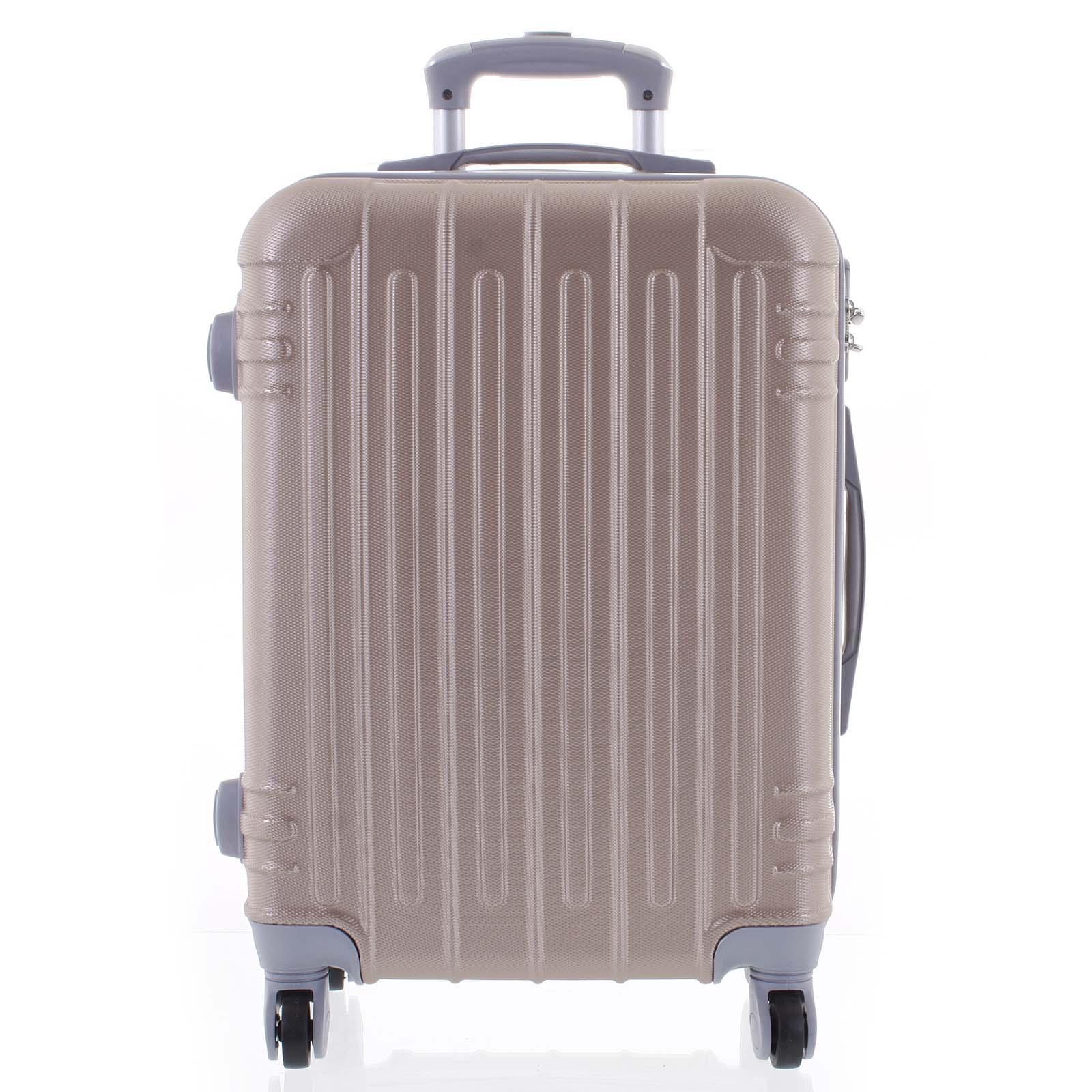 Moderný ružovozlatý škrupinový cestovný kufor - Ormi Dopp L