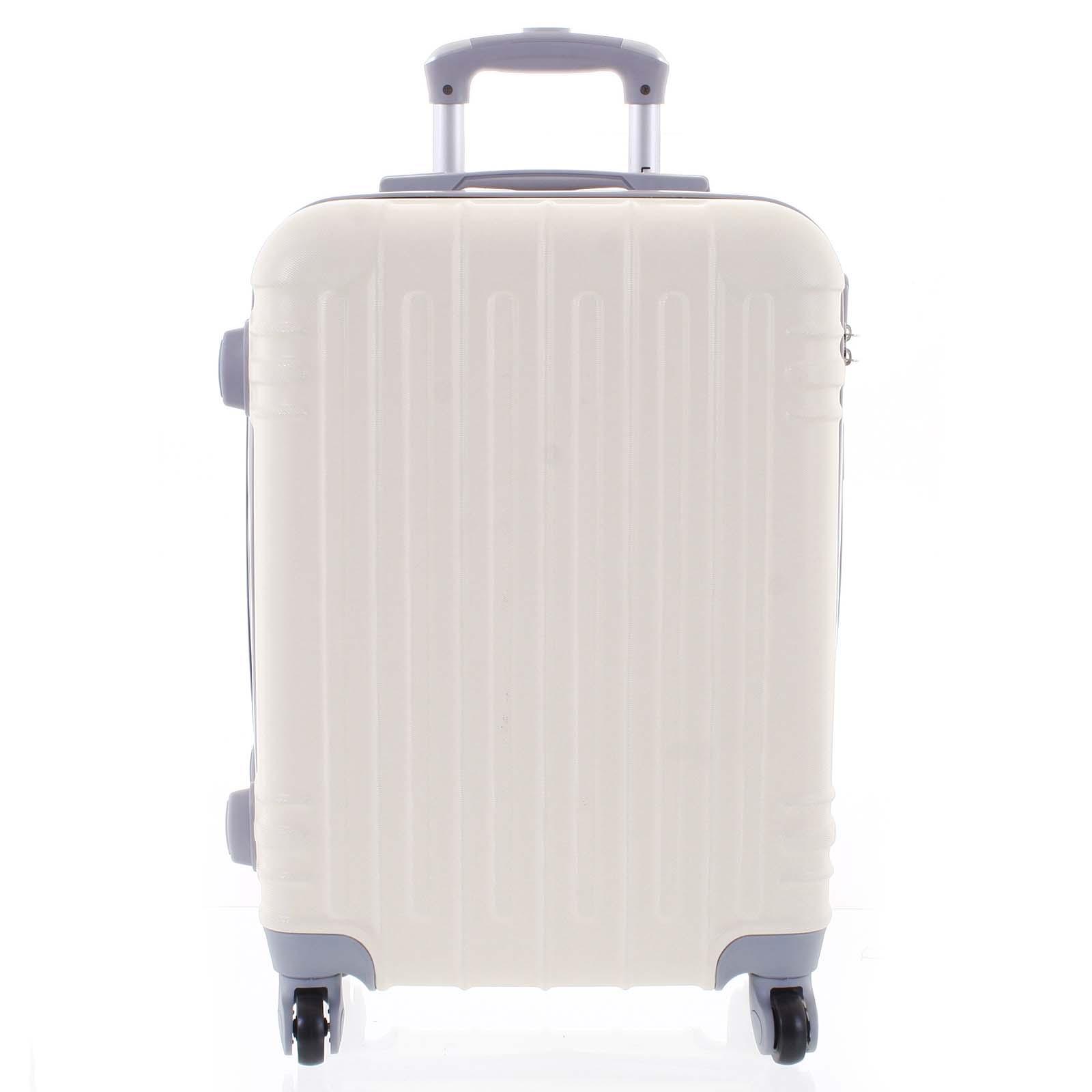 Moderný krémovo biely škrupinový cestovný kufor - Ormi Dopp M