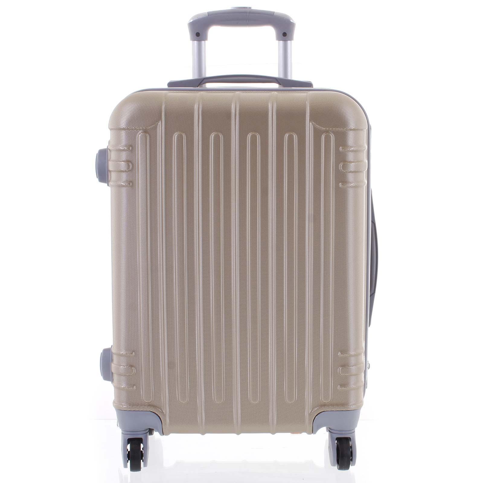 Moderný zlatý škrupinový cestovný kufor - Ormi Dopp M