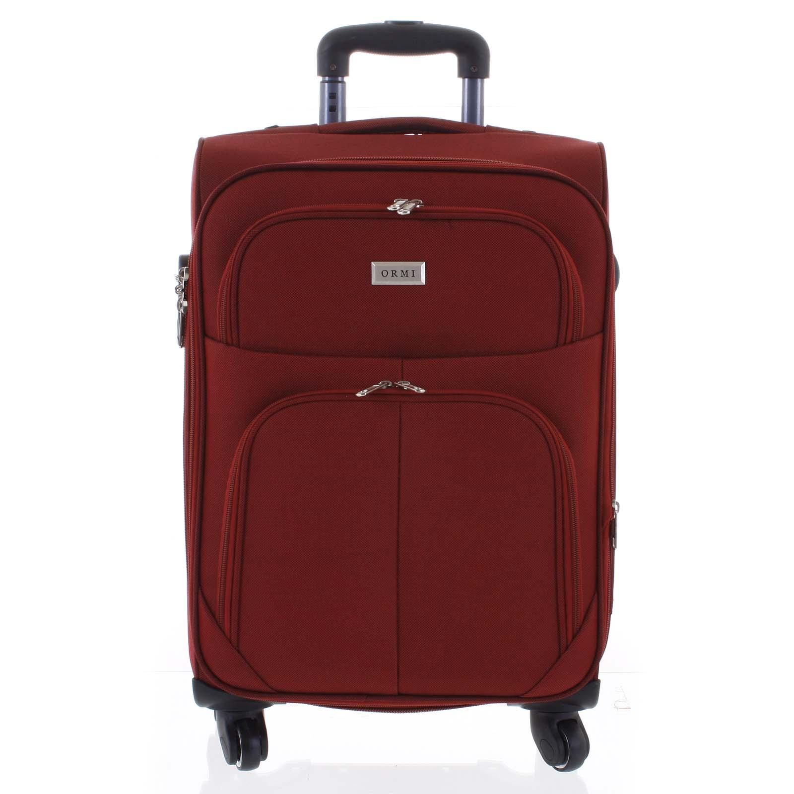 Cestovný kufor tmavočervený - Ormi Tessa M