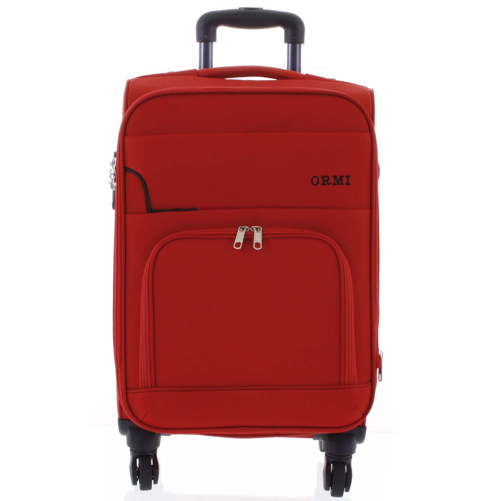 Cestovný látkový červený kufor - Ormi Nitire M