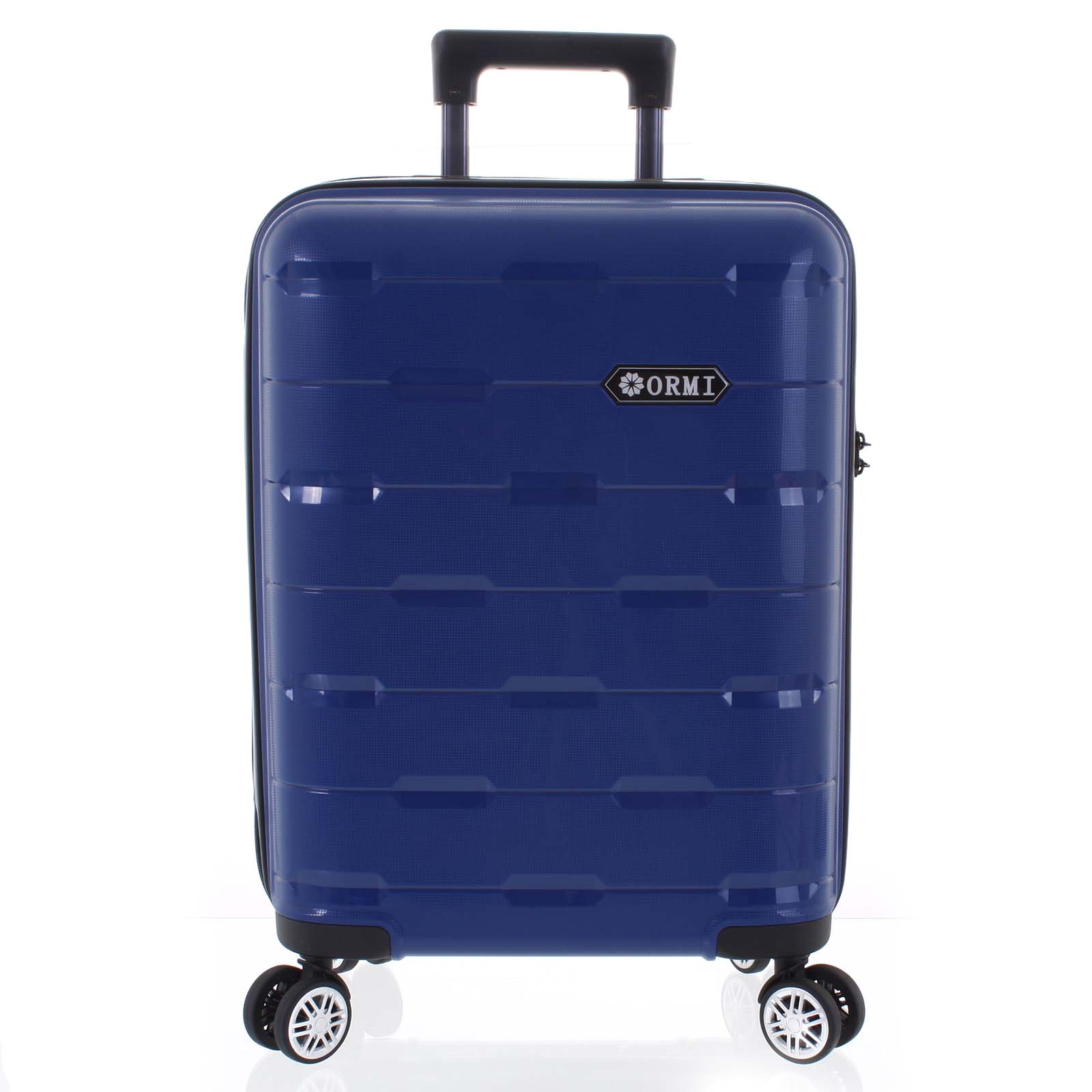Luxusný modrý škrupinový vzorovaný kufor - Ormi Predhe S