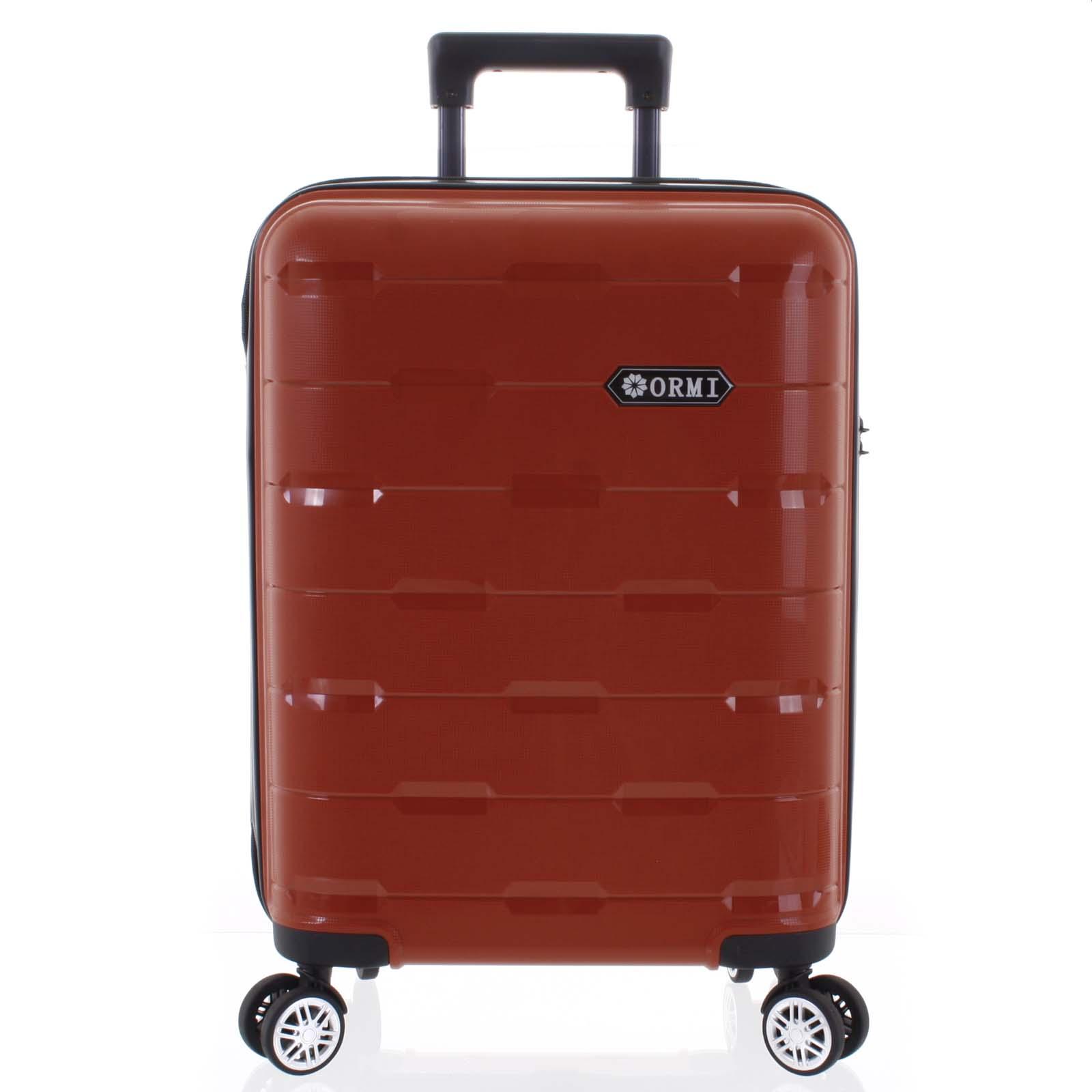 Luxusný červený škrupinový vzorovaný kufor - Ormi Predhe S