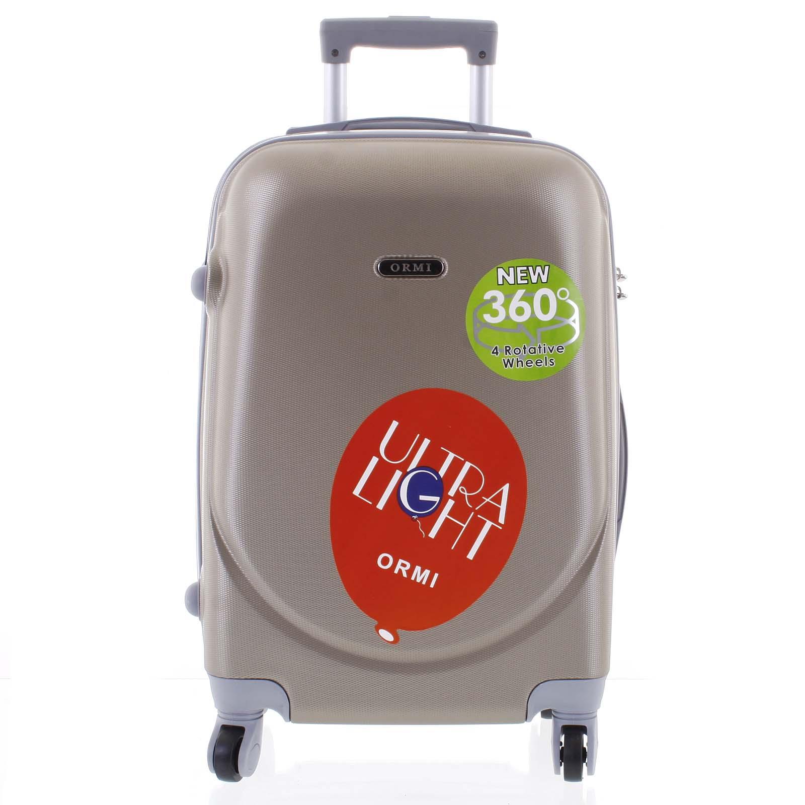 Pevný cestovný kufor béžovozlatý - Ormi Evenger L