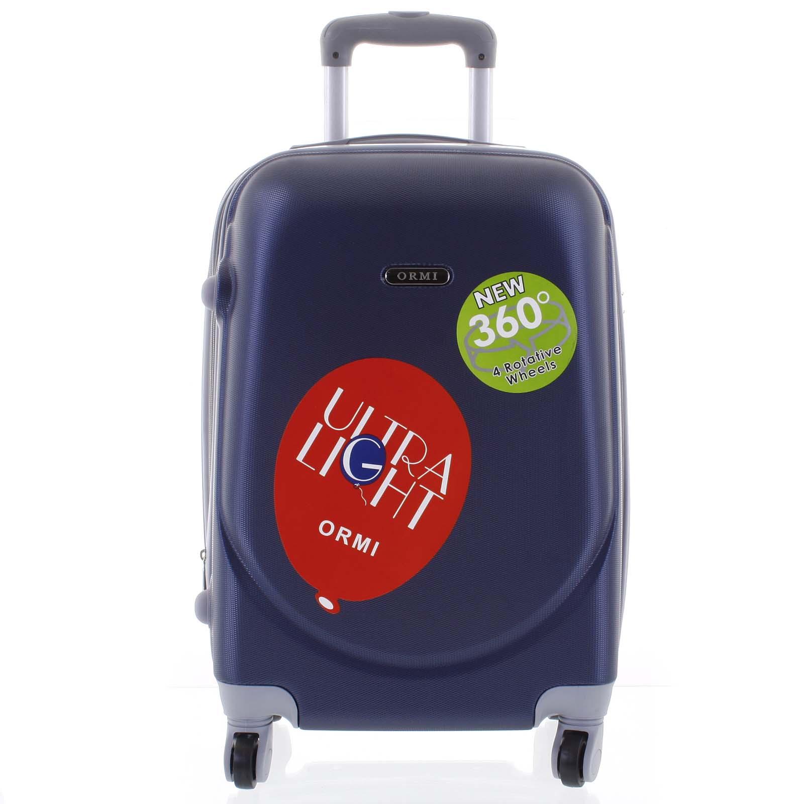Pevný cestovný kufor modrý - Ormi Evenger L