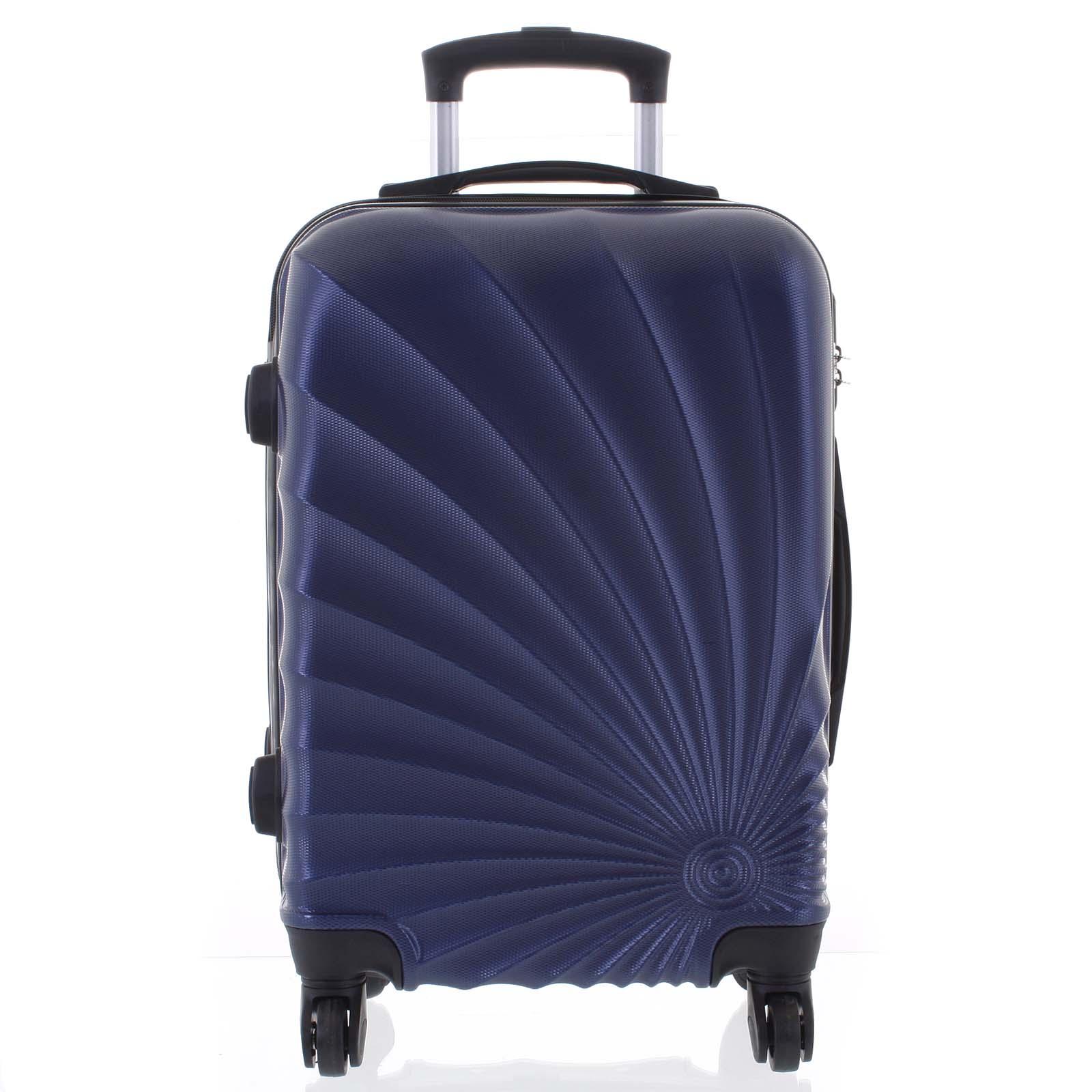 Originálny pevný cestovný kufor modrý - Ormi Sheli L