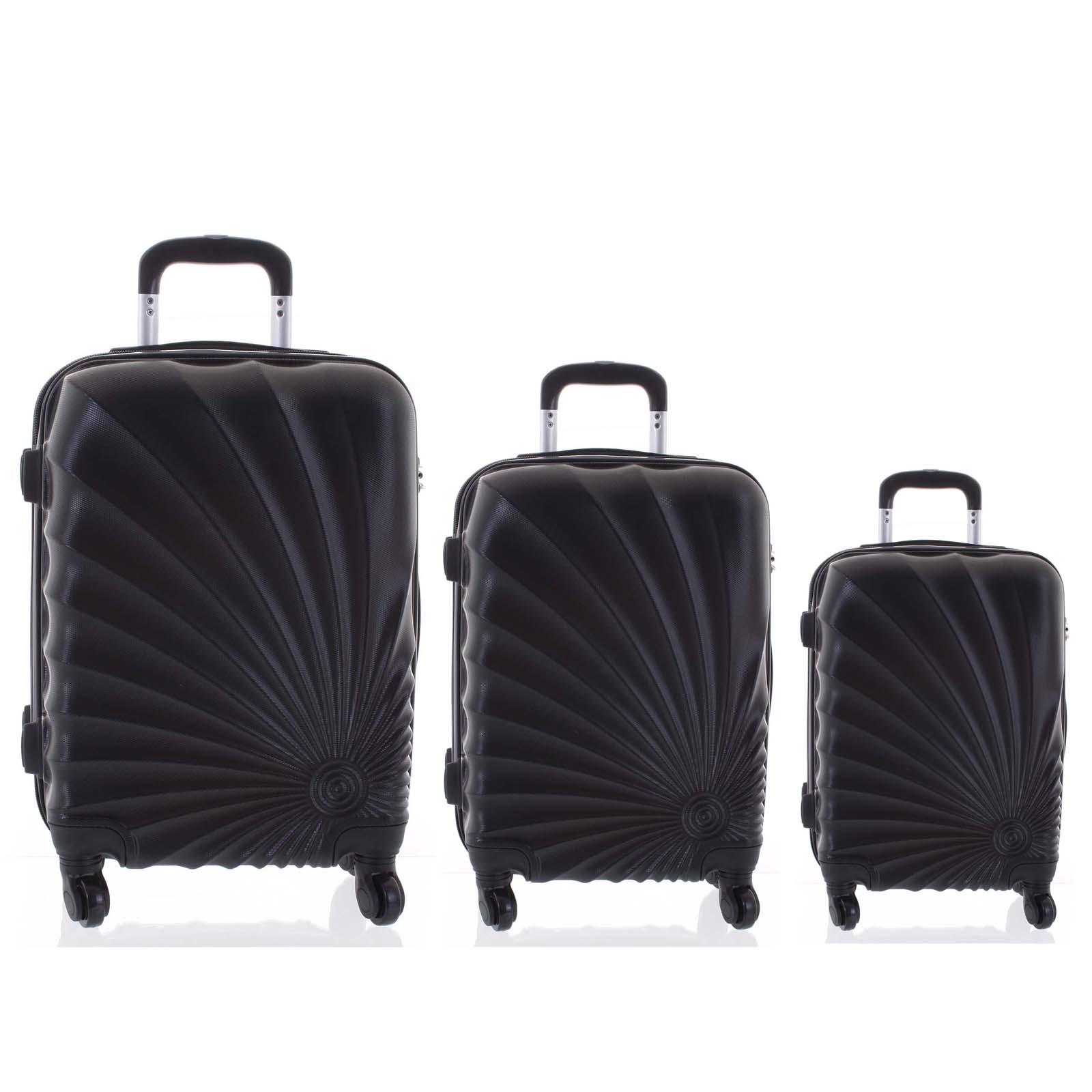 Originálny pevný cestovný kufor čierny sada - Ormi Sheli L, M, S