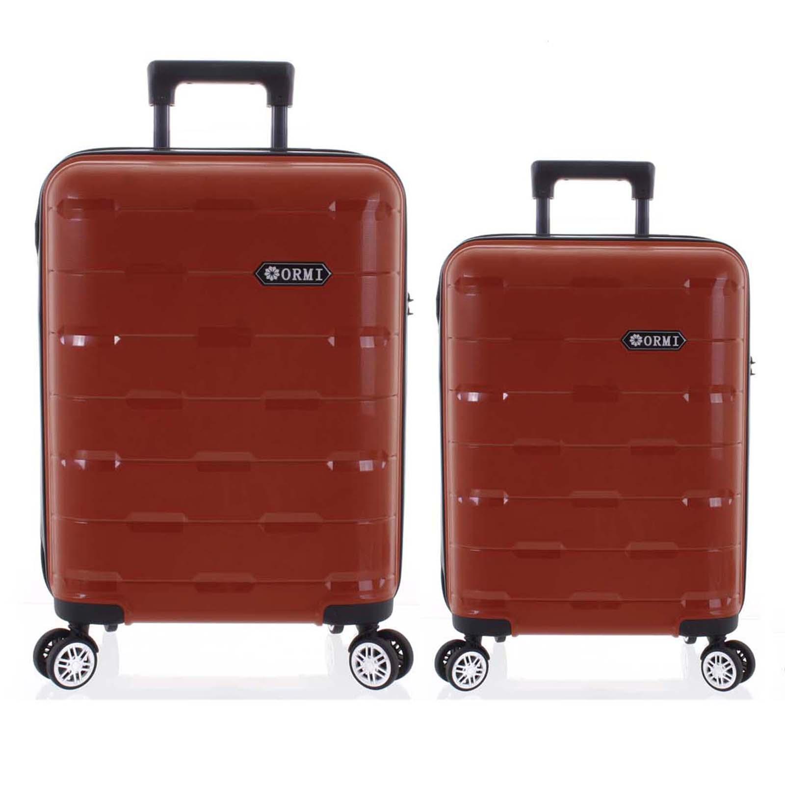 Luxusný červený škrupinový vzorovaný kufor sada - Ormi Predhe M, S