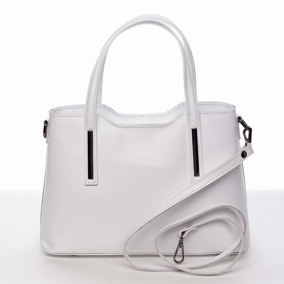 Menšia kožená kabelka biela - ItalY Alex