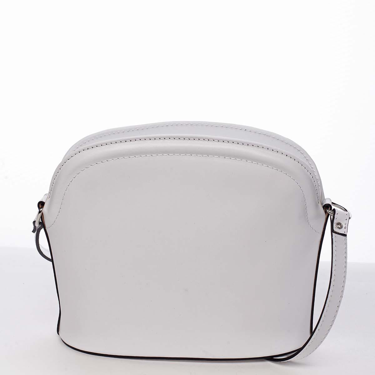 Dámska kožená crossbody kabelka biela - ItalY Tracy