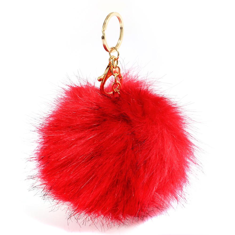 Prívesok na kabelku červený - brmbolec