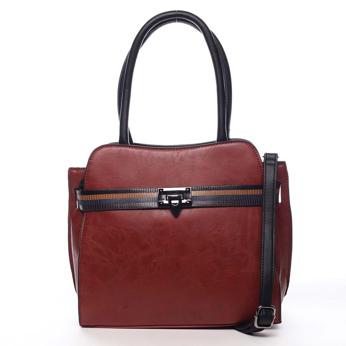Dámska kabelka cez plece červená - Maria C Shelsia