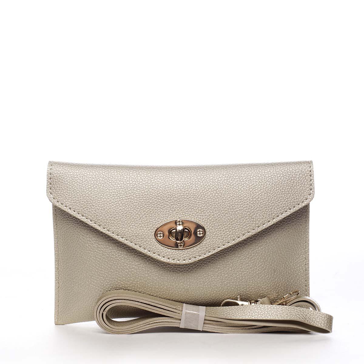 Malá moderná dámska listová kabelka zlaté - Maria C Julissa