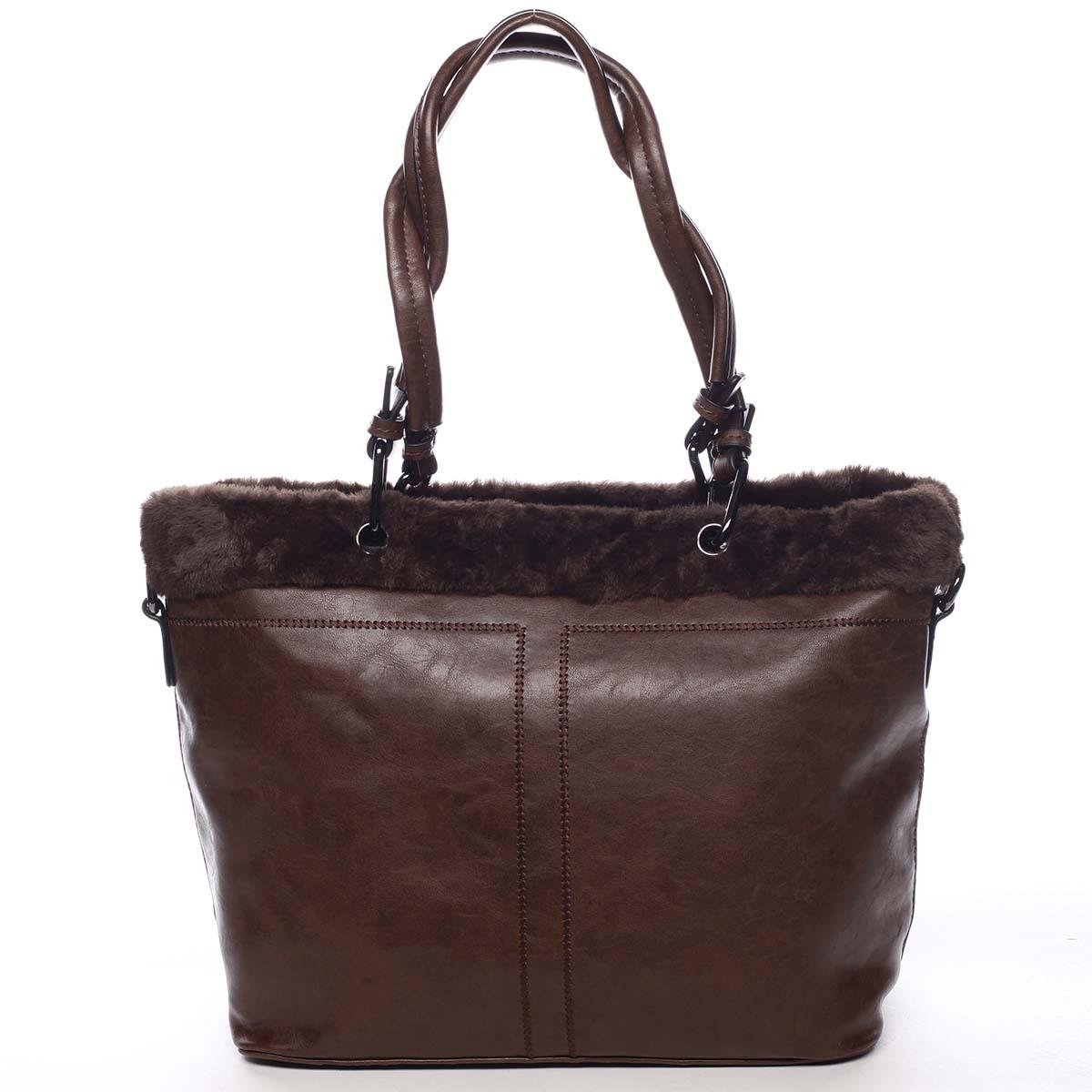 Dámska kabelka cez plece kávovohnedá - Maria C Lyra