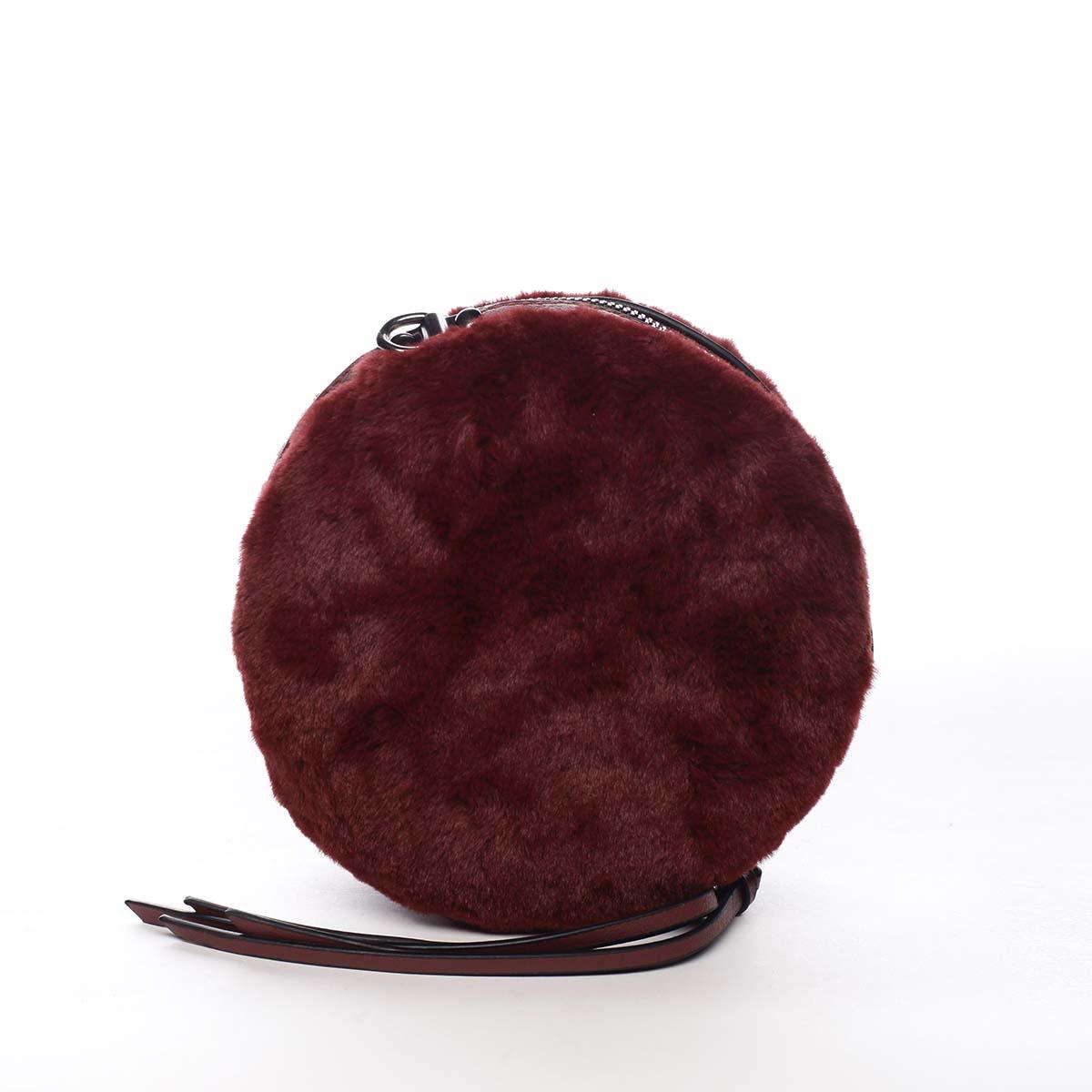 Dámska kožušinová kabelka vínová - Maria C Cheer