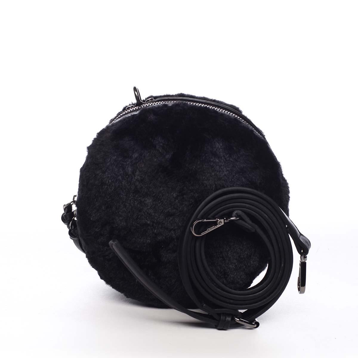 Dámska kožušinová kabelka čierna - Maria C Cheer