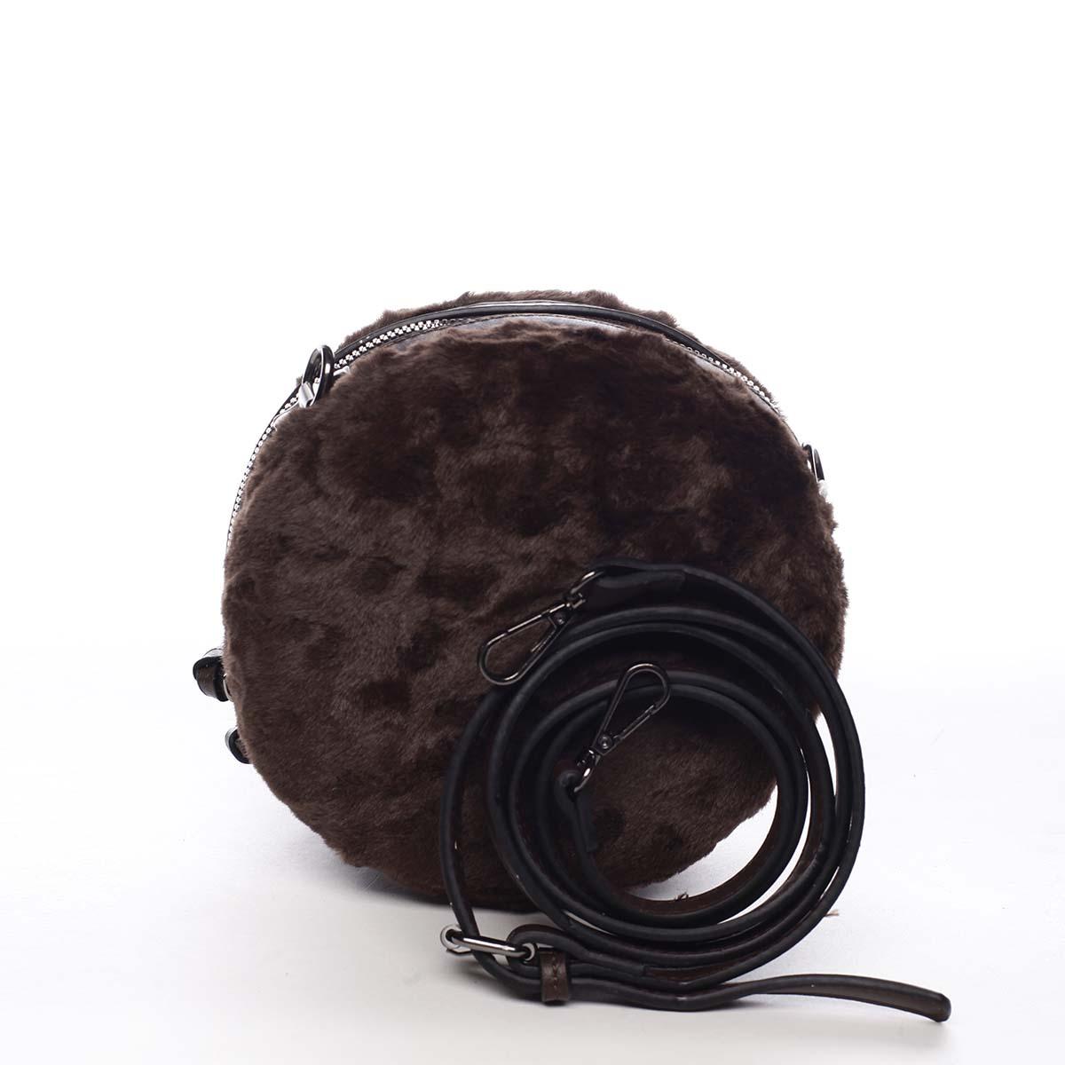 Dámska kožušinová kabelka kávovohnedá - Maria C Cheer