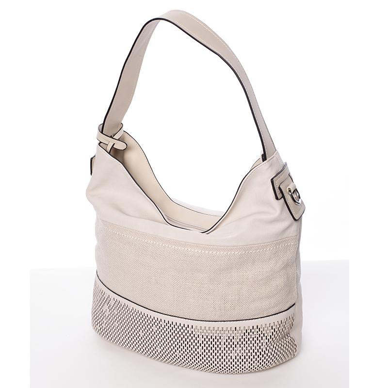 Trendy dámska kabelka cez plece krémová - MARIA C Fleur - Kabea.cz 1d2a6d2bb8c