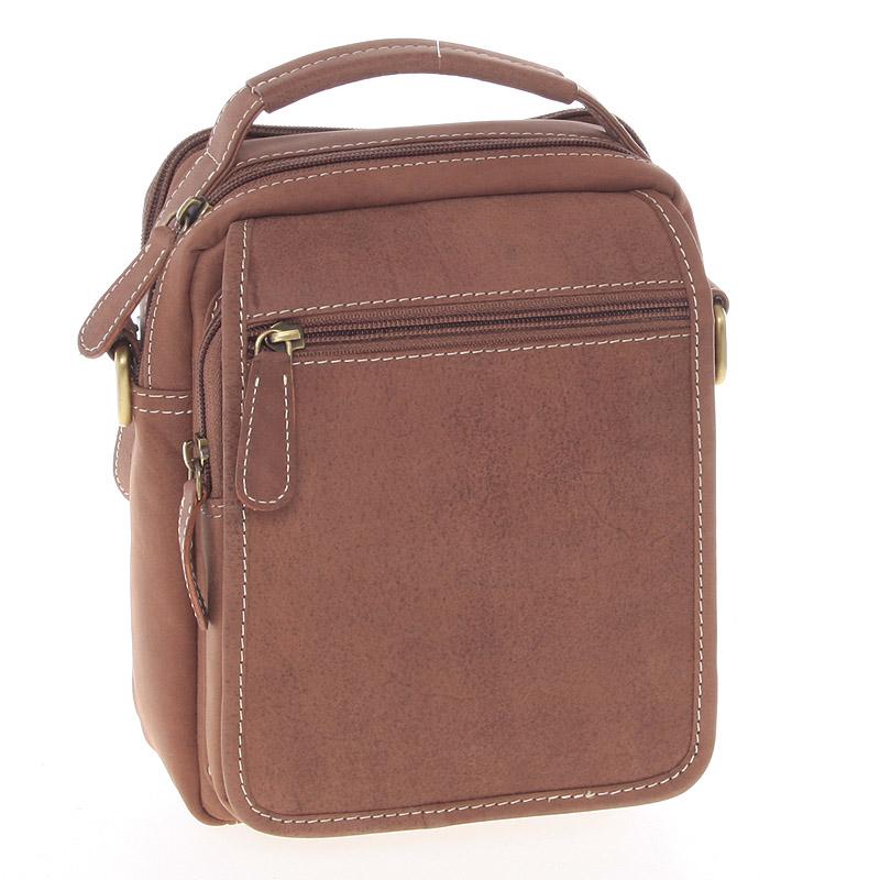 Hnedá kožená taška cez plece SendiDesign Rico
