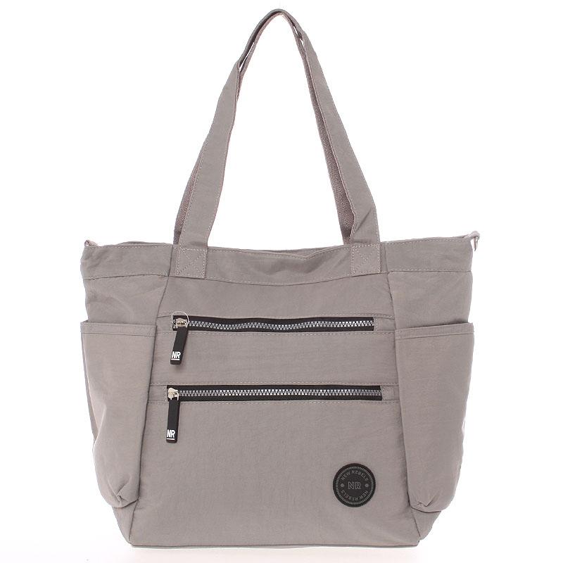 Moderná látková športová sivá taška - New Rebels Brielle